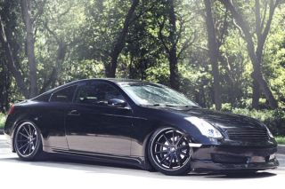 "20"" Infiniti G35 Sedan Rohana RC10 Concave Black Staggered Wheels Rims"