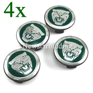 4X Good Jaguar Green Emblem Wheel Center Hub Caps s Type x Type XK XF XJ8 XK8