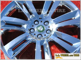 "Set of 4 New 20"" Jaguar XK XF XJ s Type Chrome Factory Wheels Rims 59850"