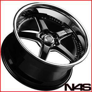 "Brand New 19"" Infiniti G35 Coupe Vertini Drift Black Staggered Wheels Rims"