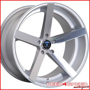"20"" Infiniti G37 Sedan Rohana RC22 Concave Silver Staggered Wheels Rims"