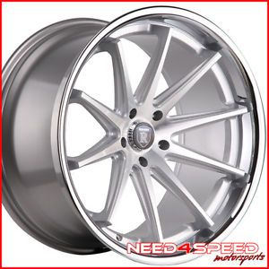 "20"" Infiniti G37 Sedan Rohana RC10 Concave Silver Staggered Wheels Rims"
