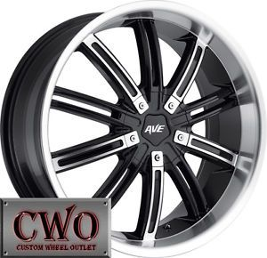 20 Black Avenue D2 Wheels Rims 5x114 3 5 Lug Ford Lexus Honda Toyota Nissan