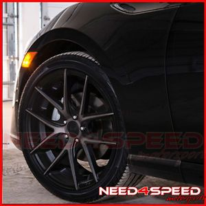 "18"" Niche Targa Black Fits Scion TC Staggered Concave Wheels Rims"