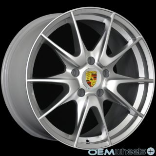 "19"" Silver GT2 Style Wheels Fits Porsche 911 Boxster Cayman 986 987 s Sport Rims"