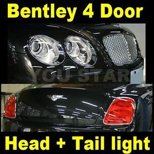 Full Set Bentley Flying Spur 4 Door sedan 06 12 Chrome Head Tail Light Cover