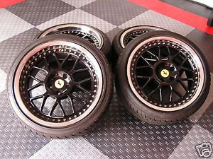 "18"" Black Wheels Tires 5x108 Ferrari 355 348 360 512 Testarossa Like New"