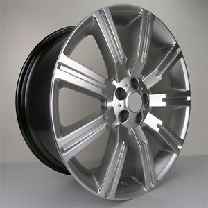"22"" Stormer Style Wheels Rims Hyper Silver Land Range Rover HSE Super Charger"