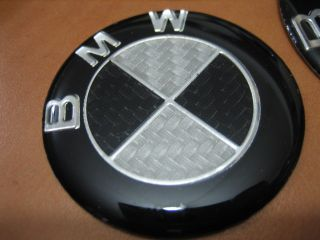 BMW Carbon Fiber Wheel Center Cap Steering Emblem 62mm