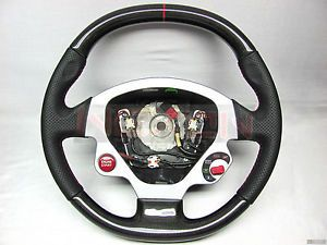 Ferrari F430 Coupe Berlinetta Spider Custom Carbon Steering Wheel w 3mm Red Ring