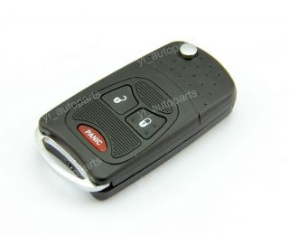 3 Buttons Remote Flip Folding Key Shell Case for Chrysler Dodge Jeep 2 1 Panic