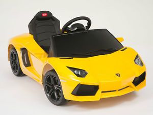 Lamborghini Yellow Aventador LP700 4 Ride on Kids Electric Power Wheels Car RC