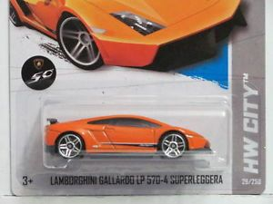 Hot Wheels 2013 HW City Nightburnerz Lamborghini Gallardo LP 570 4 Superleggera 746775110796