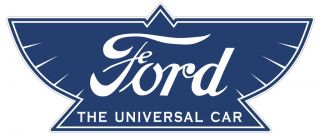 Ford Logo Metal Sign Vtg Style Car Garage Art Hot Rod Rat Street Old School