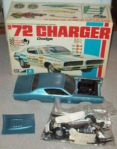Vintage MPC 1972 Dodge Charger Model Kit Built Up with Box for Parts