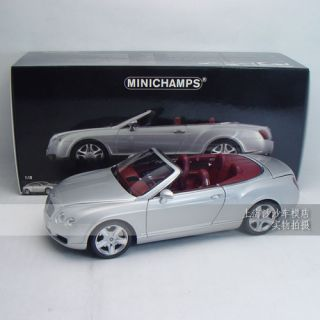 1 18 Minichamps Bentley Continental GTC 2 Door LHD 2006 Silver 100139031 FreShip