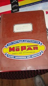 1951 Mopar Plymouth Dodge de Soto Chrysler Parts Catalog Inserts w Binder