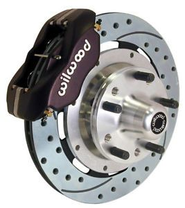 "Wilwood Disc Brake Kit Front 79 81 Camaro 12 19"" Drilled Rotors Black Calipers"