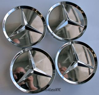 Mercedes Benz Chrome Wheel Center Caps SL320 SL500
