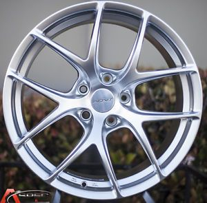 18x9 Inovit Speed Wheels 5x114 3 Hyper Silver Rims Fits Honda Accord 2003 2013