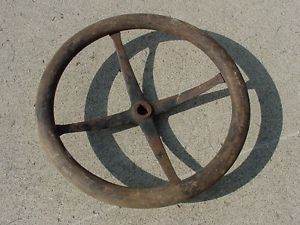 Vtg Antique Wooden Steering Wheel Old Car Boat Truck Buick Dodge Brothers Chevy