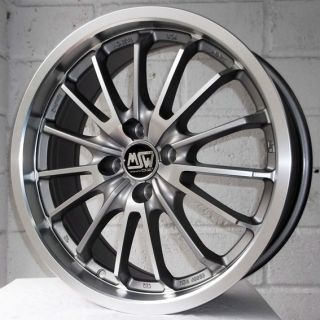 "17"" VW Polo 1994 2002 Hatchback MSW 21 Gun Pol Alloy Wheels 4x100"