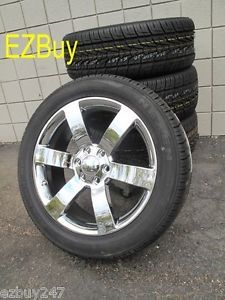"New 20"" Chevrolet Trailblazer SS Factory Style Chrome Wheels Rims Tires Set 5254"