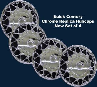 "Buick Century Chrome 15"" Hubcaps Replica Wheel Covers 441 15c New Set of 4 CCI"