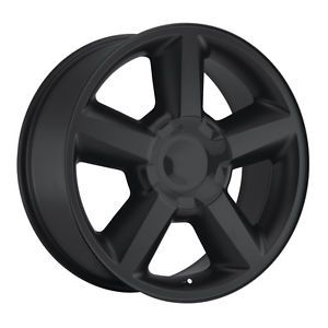 "22"" 22x10 Tahoe Black Chevy 1500 SS Silverado Wheels Rims Tires Set Package"