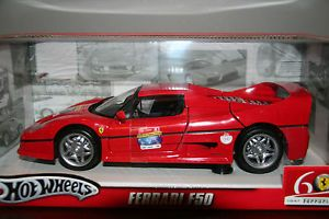 Mattel Hot Wheels Ferrari F50 Diecast Car 60th Anniversary 1 18 Scale Red L2963