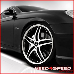 "20"" Mercedes Benz R230 SL500 SL550 SL600 SL55 Roderick RW2 Black Wheels Rims"