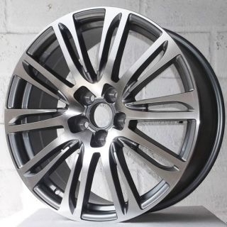 "18"" VW Transporter T4 01 03 Multi Spoke Gun Pol Alloy Wheels 5x112"