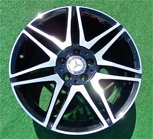 2013 Genuine Authentic Mercedes Benz AMG 18 inch Black Wheels C250 C300 C350