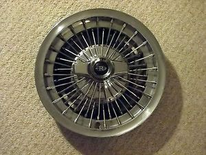 64 1964 Buick Riviera Wire 2 Bar Spinner Hubcap Wheel Cover 15""