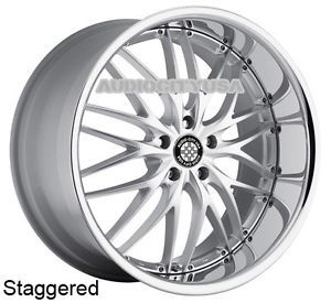 "22"" MRR GT1 SMC for Mercedes Benz Wheels and Tires Staggered Rims s CL GL"