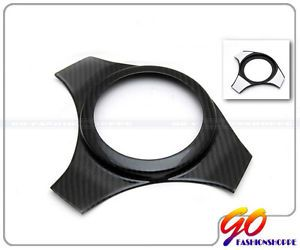 Mitsubishi EVO 7 8 9 Real Carbon Fiber Clear Coat Front Steering Wheel Cover H2