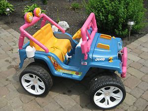 Fisher Price Power Wheels Barbie Wrangler Jeep