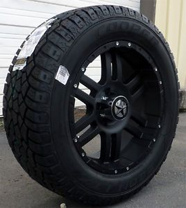 "20"" Flat Black Wheels Tires Hummer H3 20x9 Matte Black 20 inch 6x5 5 Rims"