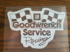 GM Goodwrench Service Racing Parts Chevrolet Vinyl Decal Sticker Monte Carlo
