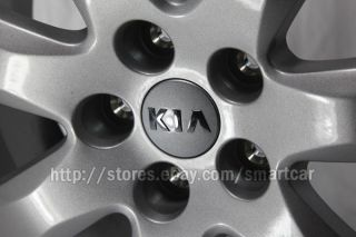 "2010 2011 2012 2013 Kia Sorento 17"" 18"" Silver Wheel Center Hub Cap Set of 4"