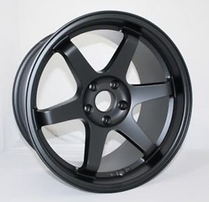 "18"" Varrstoen ES221 5x114 3 Black Wheel Fit Accord Civic SI Kia Soul Ford Fusion"