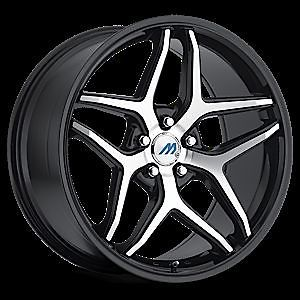 "20"" 2CRAVE Mach M3 Black Mach Wheel Rims Tires Fittoyota Nissan Honda Chevy Kia"