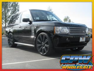 "24"" inch Matte Black Wheels Rims Tires Package Land Rover Range Rover HSE 4 New"