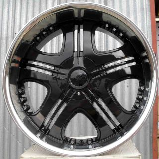 "22"" Ford USA F150 01 Harley David Axe Cruz Black Deep Dish Alloy Wheels 5x135"