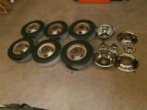 GMC Chevy Pickup 16x6 Steel Wheels Rims Dually Set 6 OE