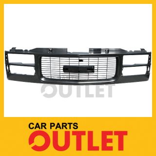 1994 1998 GMC C1500 Pickup Front Grille GM1200357 Black for Quad Lamp C K Series