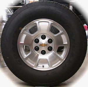 "New Chevy Silverado Tahoe Suburban Factory 17"" Wheels Rims Tires Sierra Yukon"