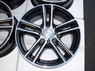 "15"" Effect Wheels Rims Black 4 Lugs Integra Chevrolet Aveo Cobalt Geo Prizm ZX2"