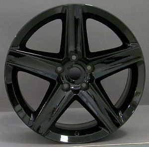"20x9"" Jeep SRT8 Gloss Black Grand Cherokee Wrangler Commander Wheels Rims Set 4"