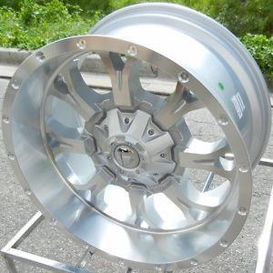 "20x10"" Silver Fuel Krank Wheels Rims Jeep Wrangler JK 4x4 x Unlimited Rubicon"